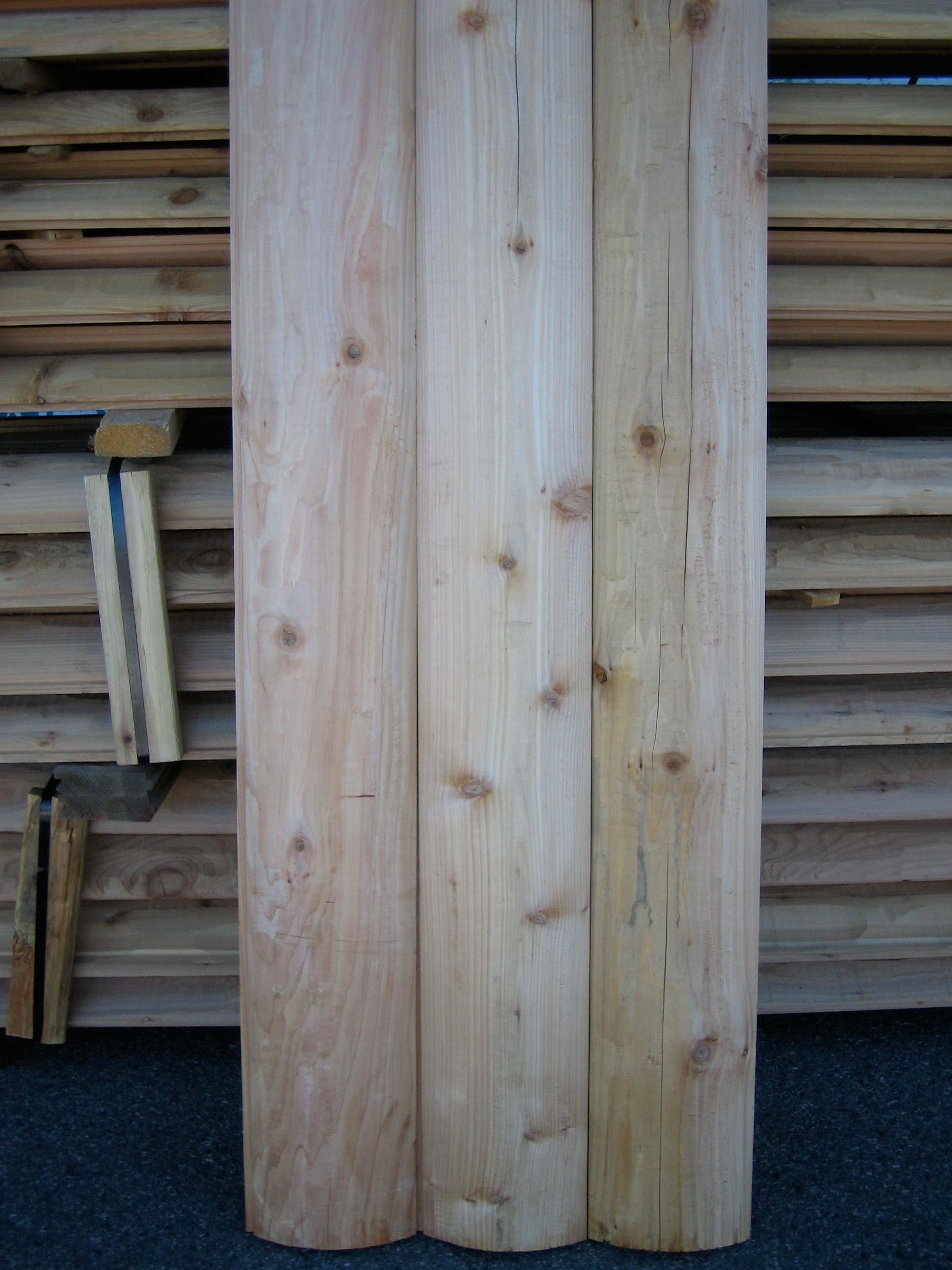 Bear Creek Lumber Western Red Cedar Log Cabin Siding