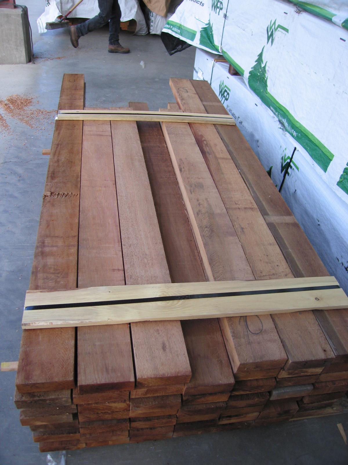 Bear Creek Lumber Western Red Cedar Boards Rough Cut