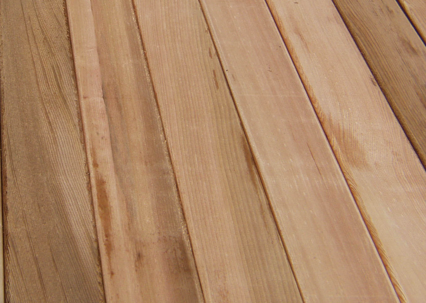Bear creek lumber western red cedar boards surfaced for Cedar flooring