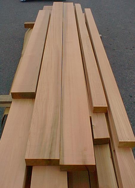 Bear Creek Lumber Western Red Cedar Surfaced Four Sides