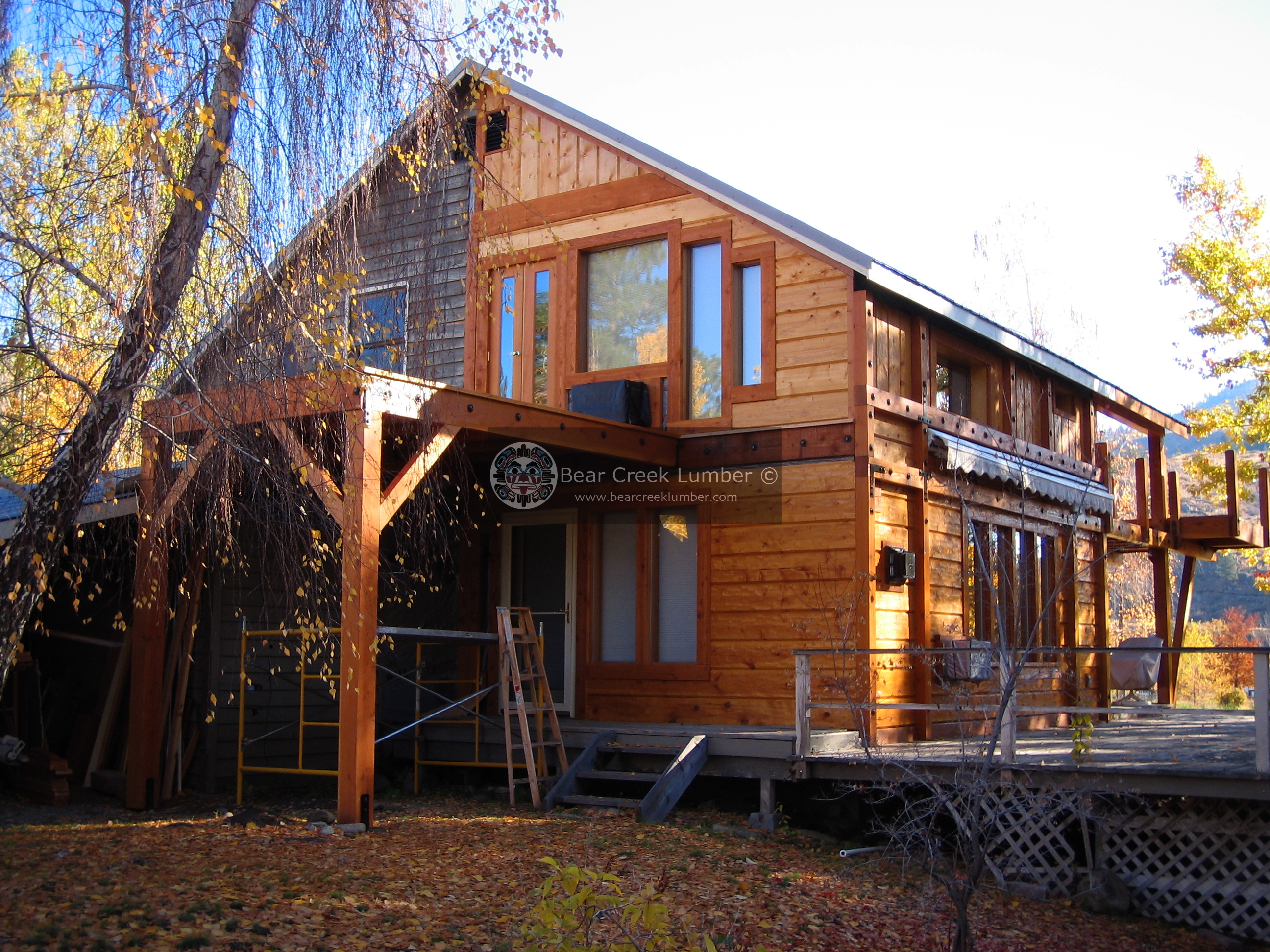 Bear Creek Lumber Featured Projects Gold Creek Cabin