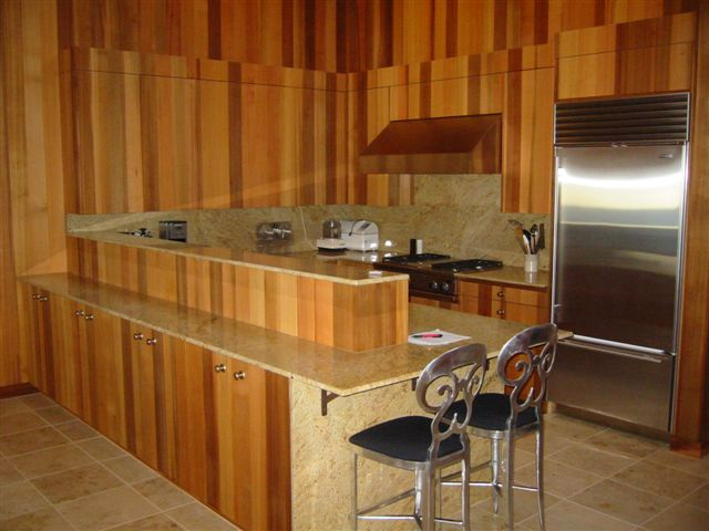Western red cedar interior paneling bear creek lumber Western kitchen cabinets
