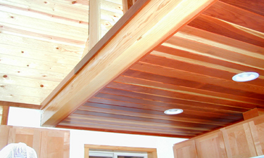 Customer comments and testimonials pine ceiling bear for Box car siding ceiling