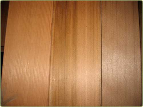 DETAILED IMAGE OF CLEAR VERTICAL GRAIN WESTERN RED CEDAR