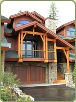 the triplex in montana is sided with red cedar bevel