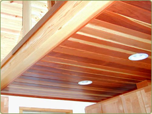 California Redwood Ceiling Paneling Bear Creek Lumber