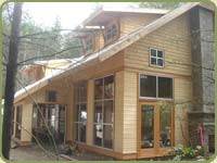 alaskan yellow cedar shingles, also shown is pattern 105 drop siding
