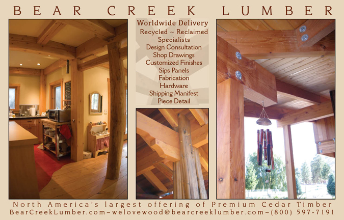 Bear Creek Lumber Print Advertising American Builders